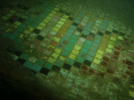 Aore Adventure Sports & Lodge: Tiles in the Coolidge Pool at 55 Metres