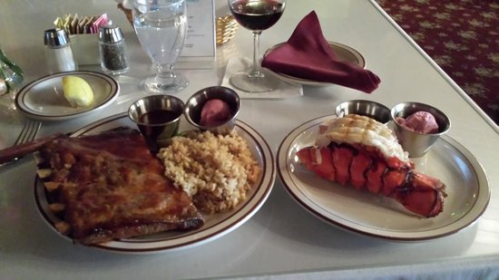 The Branding Iron Restaurant: Great Combo - Baby Back Ribs and Lobster