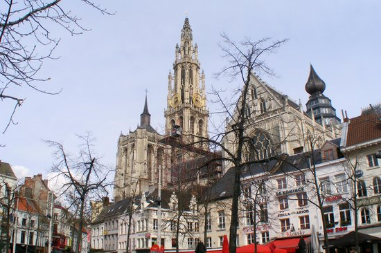 Cathédrale Notre-Dame d'Anvers : Cathedral taken from Green Square