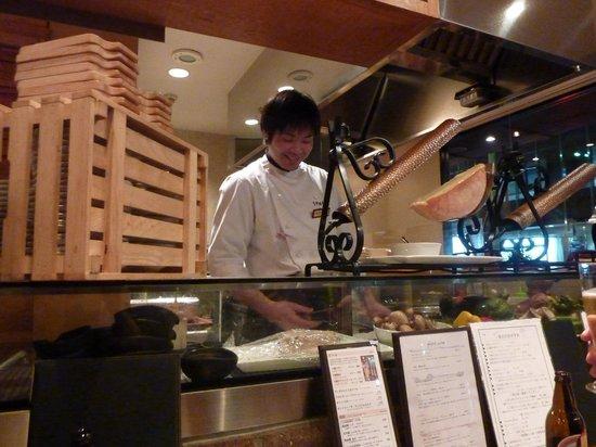 Otoriyosedining Tokachiya: eating at the counter