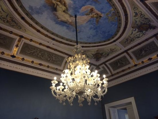 Palazzo Montevago: Decoración en el salón de desayunos