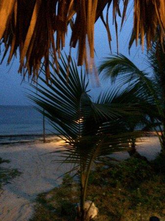 Hotel Maya Luna : Anochecer desde la terraza del bungalow.