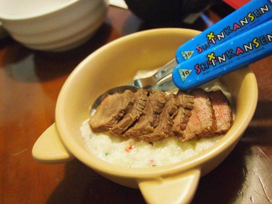 Partners House Yuasa: 犬用ごはん(ローストビーフとチーズのリゾット)