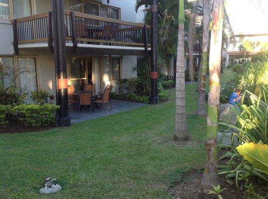 Wyndham Resort Denarau Island: Looking toward our room.