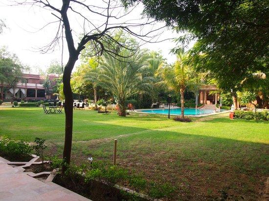 Ranbanka Palace: Pool and Garden