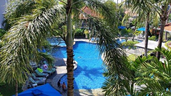 Sanur Paradise Plaza Suites: Uitzicht vanaf het balkon