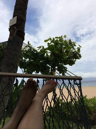 Ka'anapali Beach : relaxing by the beach
