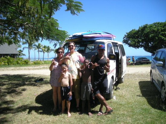 Fiji Surf School: All of us except Godfrey!