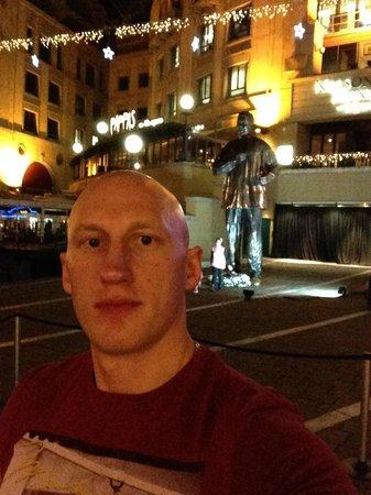 Michelangelo Hotel: Памятник Манделле
