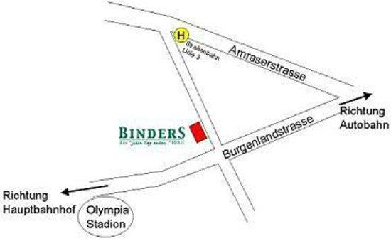 Arthotel Binders: Anfahrt