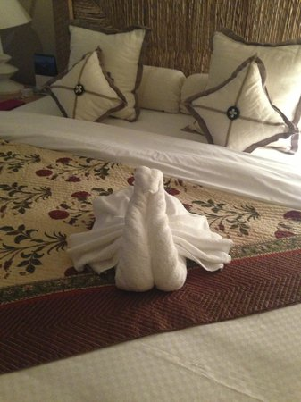 The Oberoi, Mauritius: One of the regular towel animals!