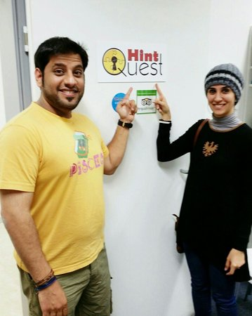 HintQuest Live Exit Games: We enjoyed solving this hard puzzle me & my wife