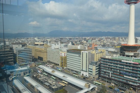 Hotel Granvia Kyoto : Kyoto tower view from 15th floor