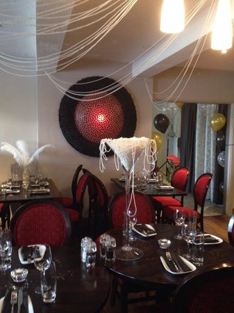Rumours Bistro: Set up for the Great Gatsby evening