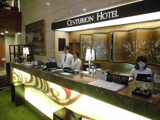 Centurion Hotel Ueno: Reception desk & friendly staff
