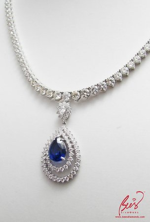 Bee S Diamonds Detachable Sapphire And Diamond Necklace Tailor Made For Wedding Special