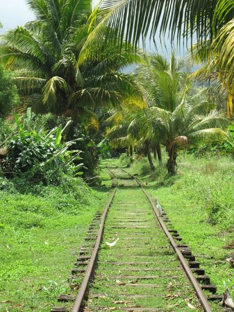 Sainte Marie, Martinique: les rails