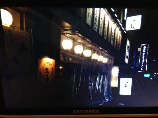 Hakata Green Hotel Annex: Local restaurant near Yodobashi Camera Shop