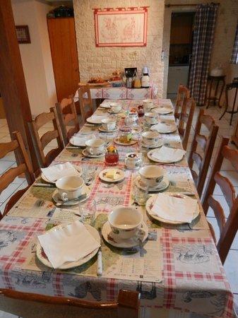 Chez Dany : Table petit déjeûner