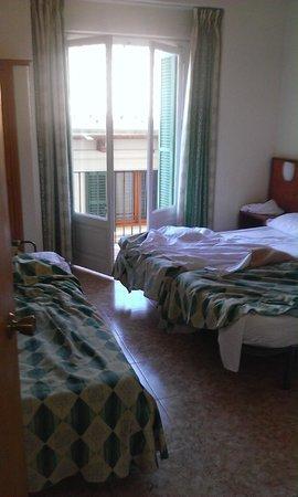Hostal Apuntadores: chambre n°41 (jour du départ)