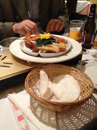 Mr Hau: Mixed meat platter starter.