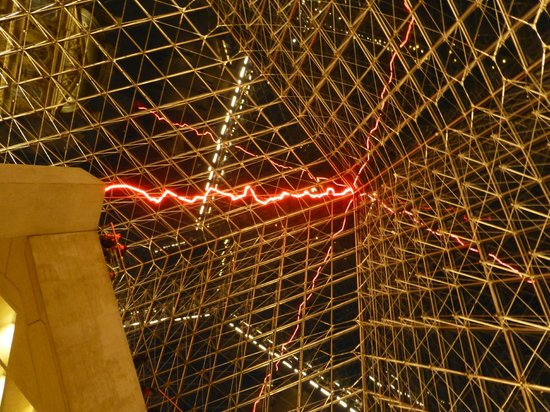 City Wonders: Under the Louvre pyramid - looking up