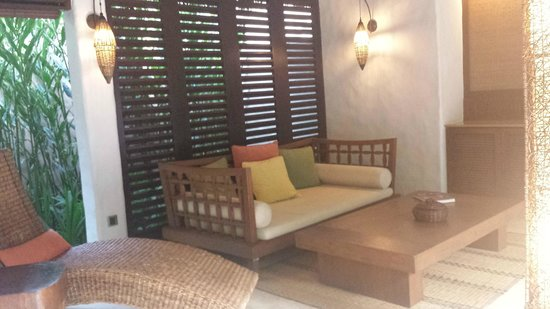 The Banjaran Hotsprings Retreat: Outdoor seating area in your own villa