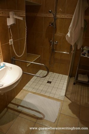 Hotel le Clos d'Amboise: Bathroom floor gets flooded after every shower