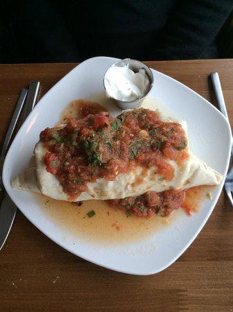 HUGE breakfast burrito