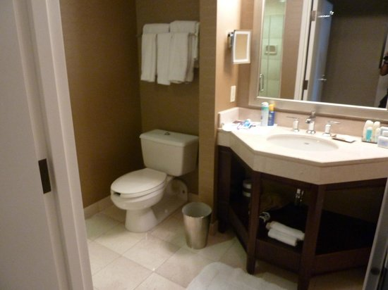 Omni Los Angeles at California Plaza: Photo of the bathroom.. Shower not in view but was lovely!