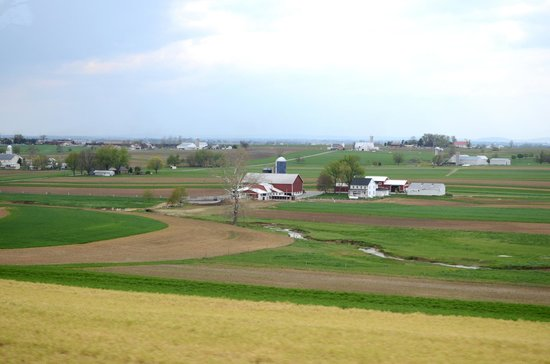 The Amish Village: Some of the farmlands we drove by on the bus tour.