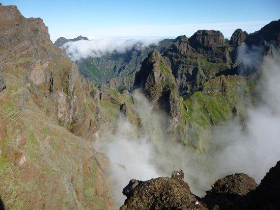 Madeira, Portugal: crêtes du pico arieiro