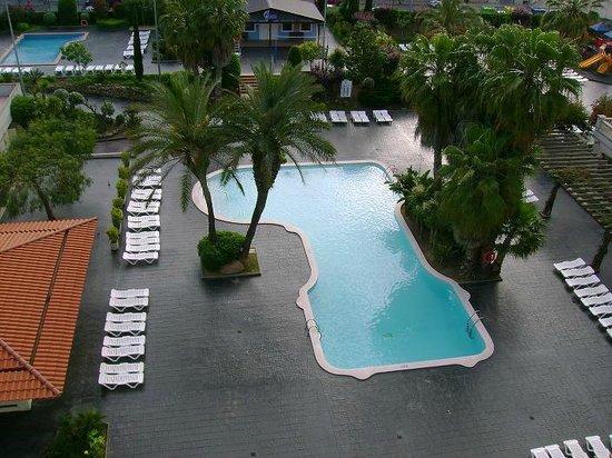 Aqua Hotel Bella Playa Costa Brava : pool view from our room