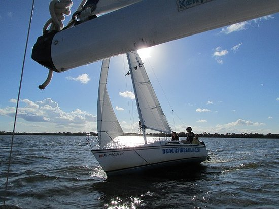 Beachside Sailing: Sailing on the Banana River.