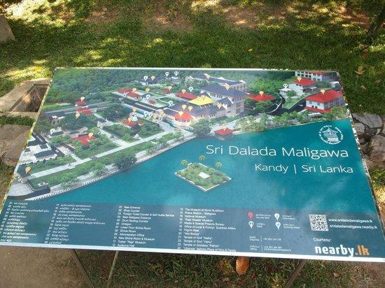 Templo del Diente de Buda (Sri Dalada Maligawa: Карта территории Храма