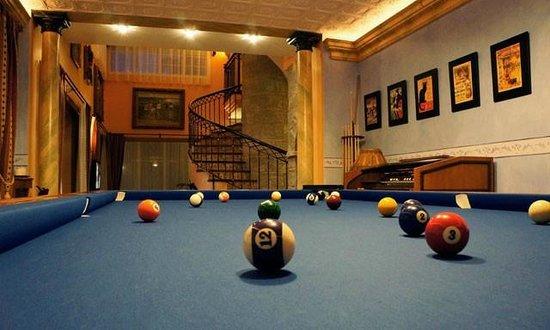 Villa Erina Park Hotel: Zona billar