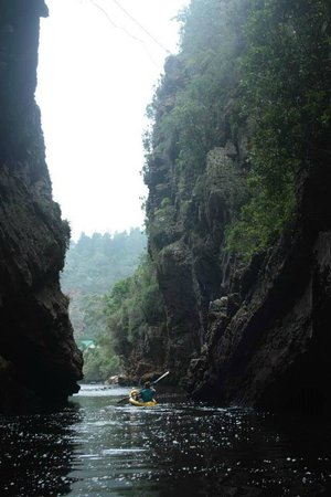 Kaaimans Waterfall: The gorge you enter from