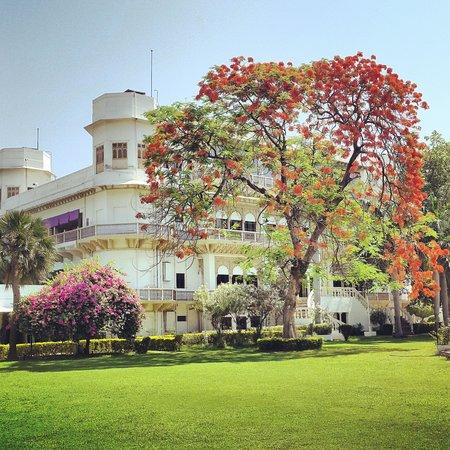 Usha Kiran Palace : Palace lawns
