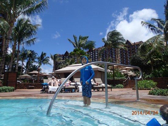 Aulani, a Disney Resort & Spa: 新しくできてたカマカグロット。ジャグジー付。