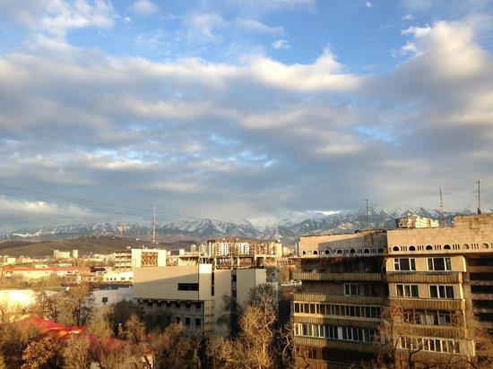 Rixos Almaty: View from the room's balcony