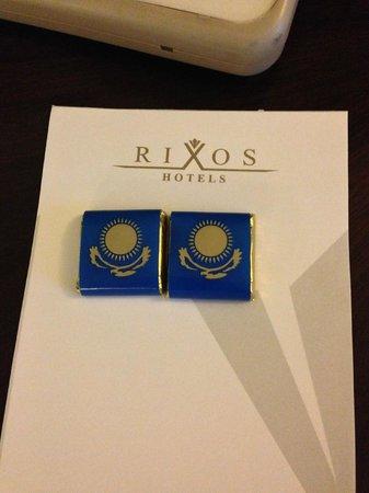 Rixos Almaty : Nice chocolates but only on one night