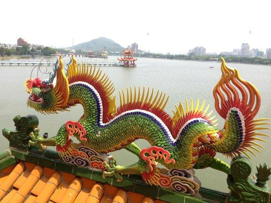 Dragon Tiger Tower: view to Lotus Lake