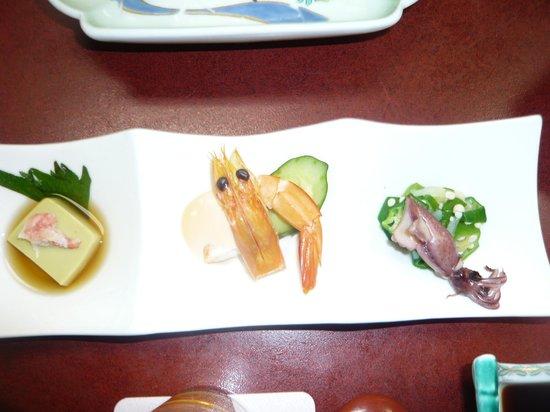 Hotel Shioyazaki : 前菜?ちょっと物足りない。