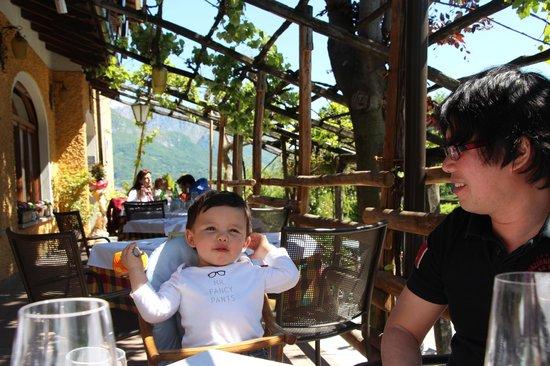 Salice Blu: outdoor dining