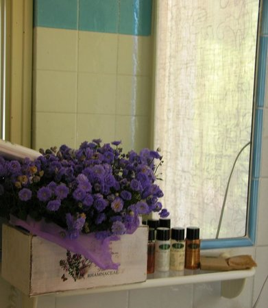 Hotel Villa Aurora : view of the bathroom of the standard mountain double room