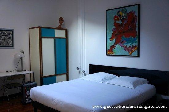 Chambres d'hotes Loft Vintage Lyon : Comfy bed