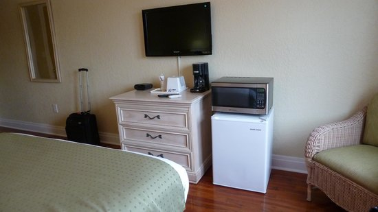 Hollander Hotel: Room 308 - TV, fridge, microwave