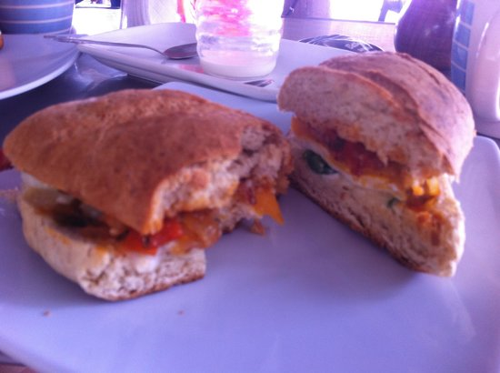 Party Wave Gigante: Breakfast sando on homemade bread $3