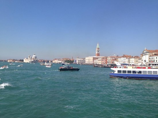 Venice Water Taxis: view from the boat