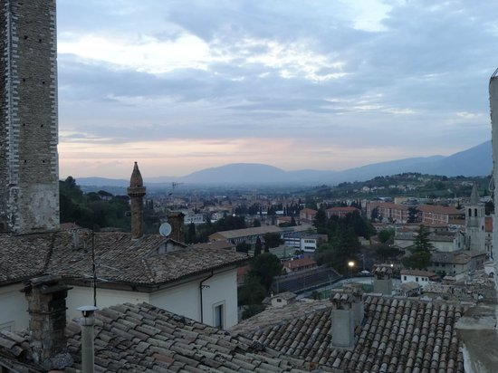 L'Aura : View from terrace at sunset
